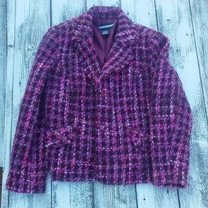 Purple and pink blazer